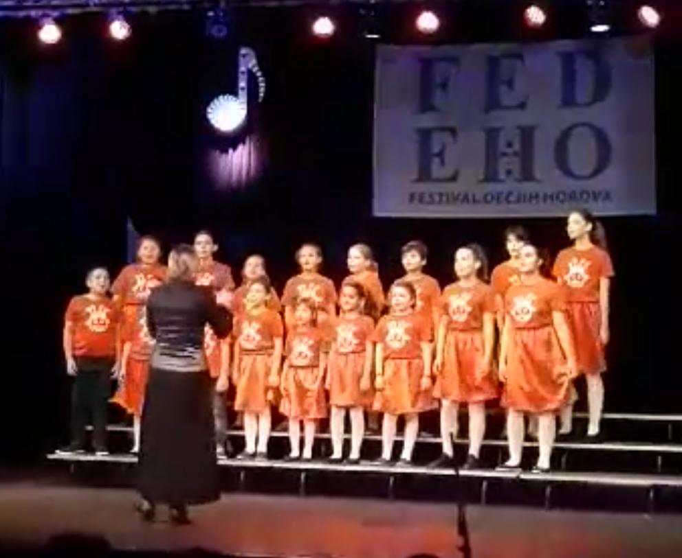 """Успех хора """"Круна од нота"""" на фестивалу ФЕДЕХО"""