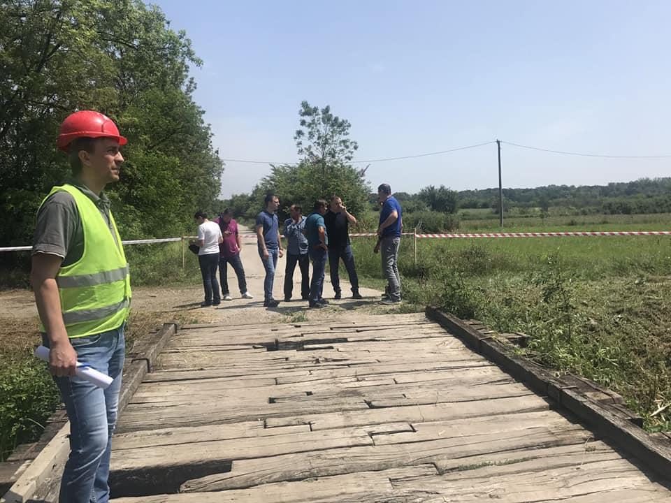 Започети радови на реконструкцији моста у Грабовцу