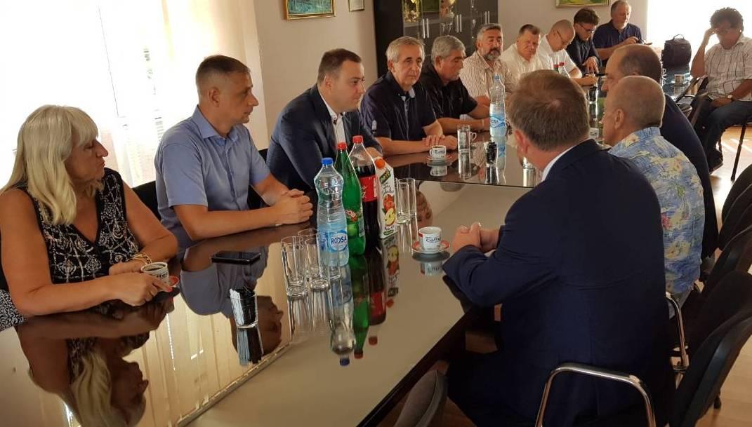 Пријем за делегацију округа Нови Сонч из Пољске