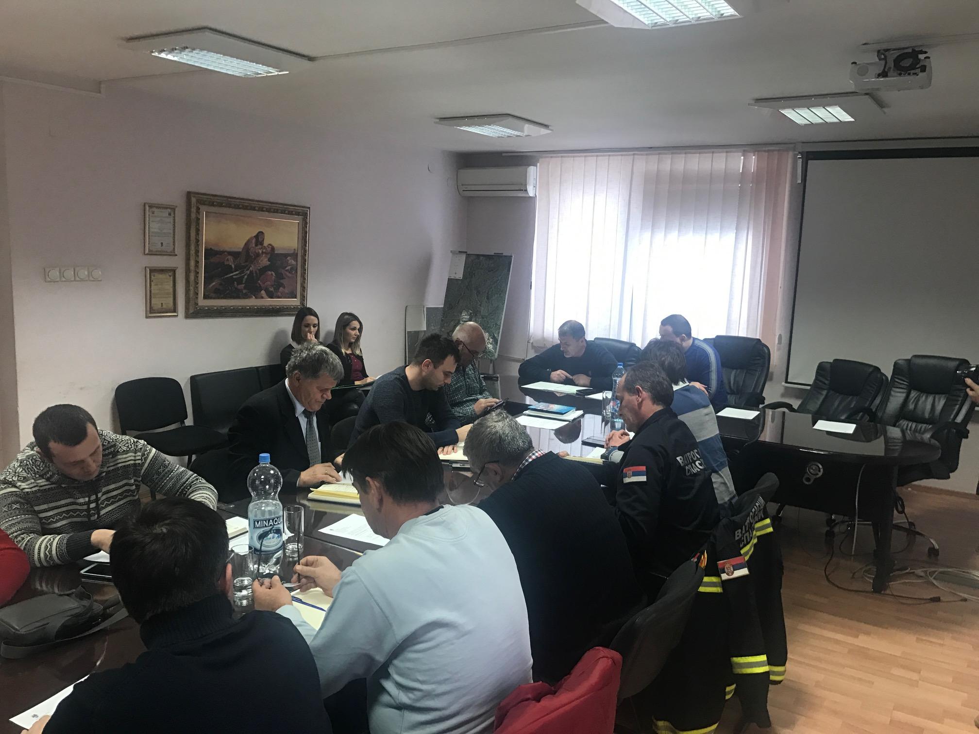 Седница оперативног тима зимске службе