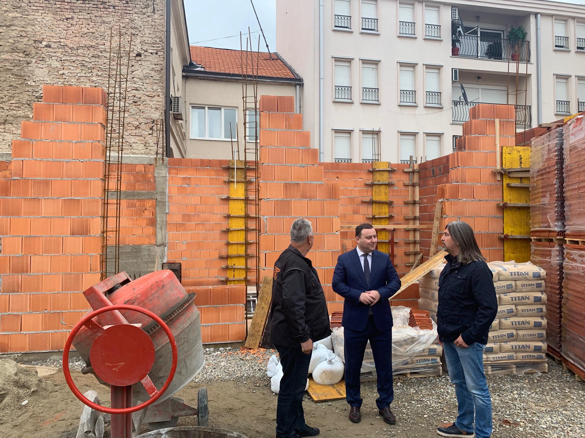 Наставља се изградња зграде Старе општине
